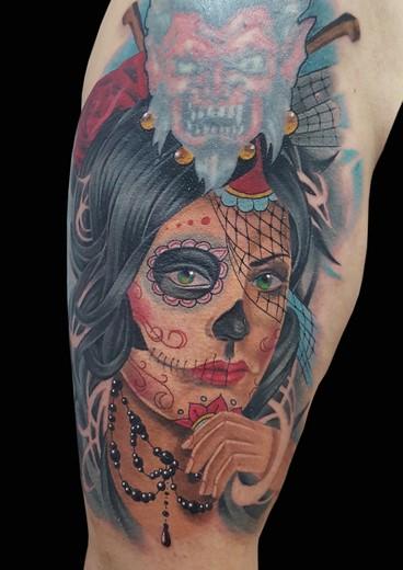 tattoo CATRINA COLOR