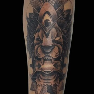 tattoo LEON MANDALA