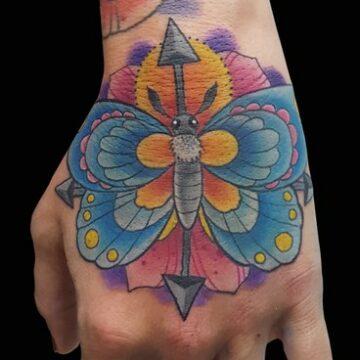 tattoo MARIPOSA-HAND